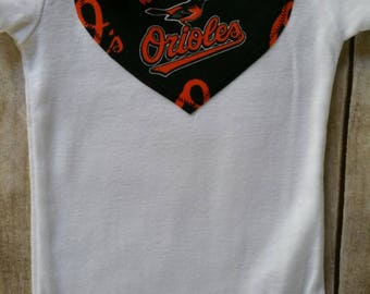 SHIP TODAY Baltimore Orioles Inspired Heart bodysuit  • 18 months