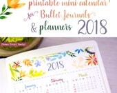 2018 Mini Calendar for Bu...