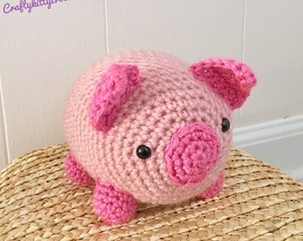 READY TO SHIP Stuffed Pig / Piglet - Amigurumi, Toy, Plush