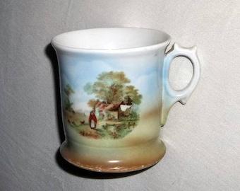 Vintage Shaving Mug, ca1910 Rural Scenic, Germany