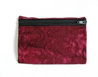 Medium Pouch- Mulberry tie dye cotton