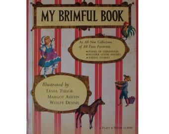 My Brimful Book, Mother Goose book, nursery rhyme book, children's poems, Mother Goose rhymes, Tasha Tudor book,  children's poetry book