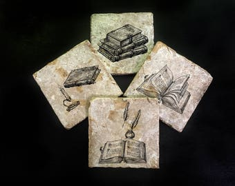 Books/ reading coaster set. **Ask for free gift wrapping and have them sent directly to the recipient!**