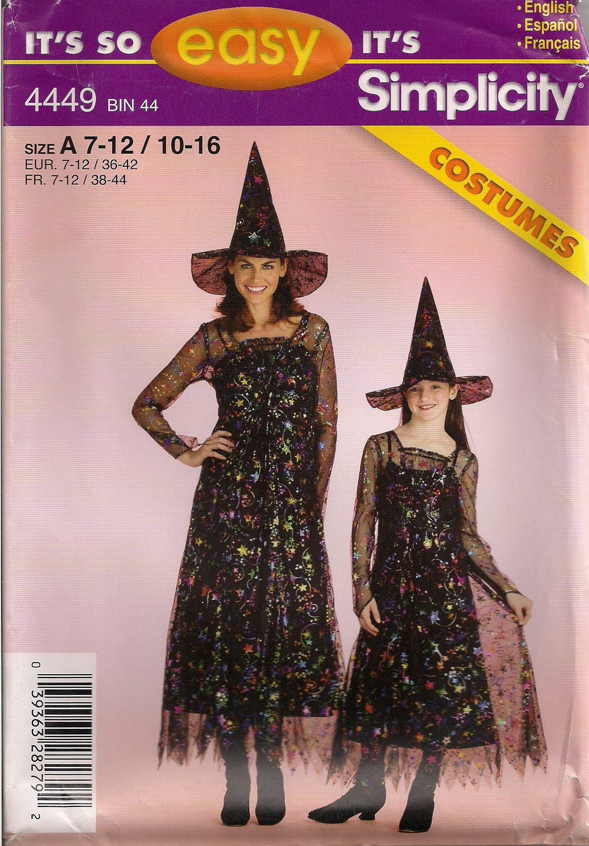 Witch Costume Pattern New Decoration