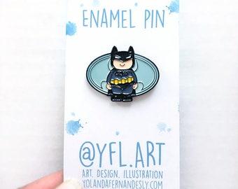 Batman Enamel Pin-DARK KNIGHT- Lapel Pin- Superhero Enamel Pins- Justice League- I am Batman- Button- Father's Day Gift