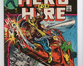 "Luke Cage, Hero For Hire #3 ""Mark of the Mace"" - Marvel Comics 1972 - VF/VF+ Condition - Jessica Jones, The Defenders, Netflix Hero"