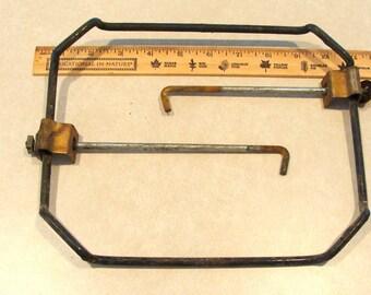 "Vintage Antique Battery Hold Down Bracket 10"" x 8"""