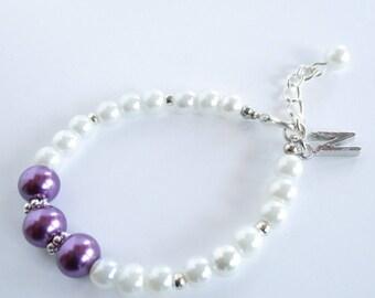 Purple Bridesmaid Bracelet, Purple Bridesmaid Jewelry, Bridesmaid Proposal, Bridesmaid Gift, Bridesmaid Jewellery, Purple Wedding Jewellery