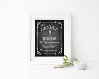 Wedding Memorial Sign | PRINTED Wedding Sign, Memorial Table Decor, Loving Memory Sign, memory table wedding sign, chalkboard wedding sign