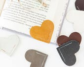 Limited Edition Leather Bookmark Leather Heart Bookmark
