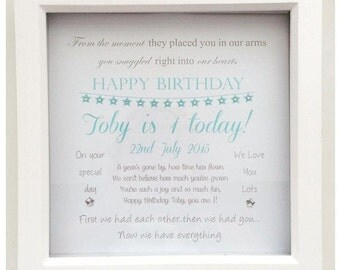 First Birthday Personalised Frame