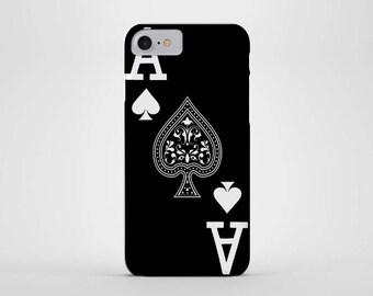 Ace of Spades Phone Case - iPhone & Samsung Galaxy Cases - Retro, Playing Card, Poker, Gambler, Vegas, Blackjack, Spade Card (all Sizes)