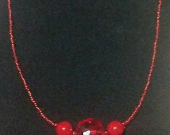 Red Hot Tamale Beaded Necklace
