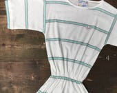 Adidas Mint Green Stripe Tennis Dress