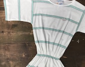 Adidas Mint Green Stripe Tennis Dress