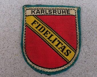 Vintage Karlsruhe Germany Woven Travel Patch