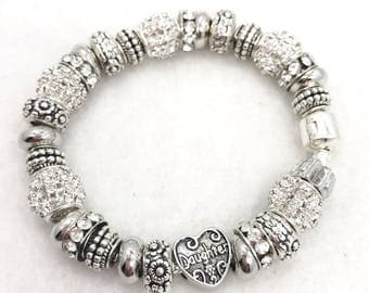 Daughter European style Charm Bracelet