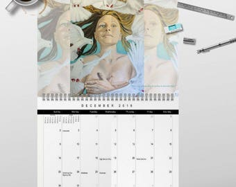 2018 Personal Power Wall Art Calendar by artist Rafi Perez - Signed By The Artist