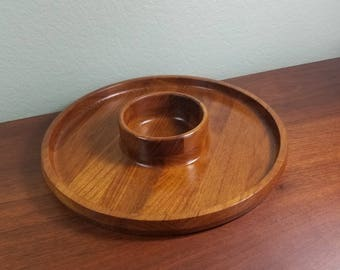Dansk IHQ Teak Chip And Dip Tray