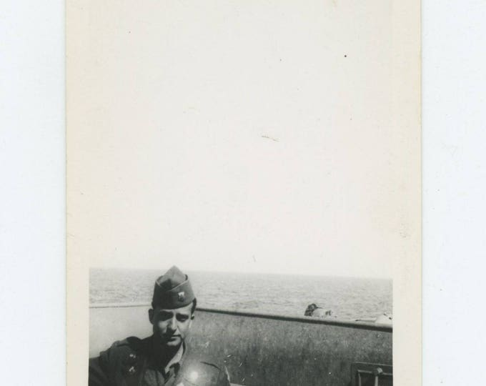 Vintage Snapshot Photo: Soldier, c1940s (711621)