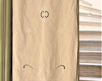 Beige cutwork curtain-Home decor-Cottage chic-0002521