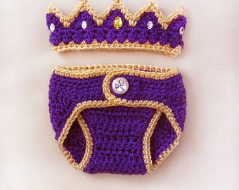 Newborn Photo Prop, Baby Crown, Baby Girl Crown, baby girl crochet crown, baby shower gift, baby gifts, girl clothes, crown with gems