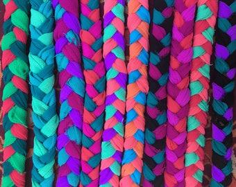 Braided Sari Fabric Bracelets