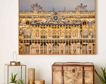 Large Versailles print, Architecture photography, Gold wall art, Palace Fine art photography large poster, living room decor, 11x14, 12x16
