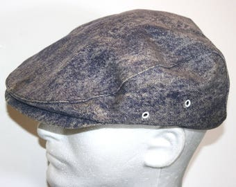 VINTAGE! Men's Union Made Worn Newsboy Cabbie Hat Cap Sz 7 1/4 - 7 3/6 USA Made