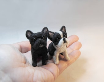 Custom Made Pet Portrait, SMALL SIZE, Needle Felted Miniature Dog, French Bulldog, German Shepherd, Terrier Pug or any other breed