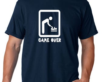 pregnancy announcement, reveal to dad, funny pregnancy, game over, game over baby, dad to be gift, dad to be shirt, baby announcement, baby