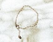 Gold Chain Bracelet-Simpl...