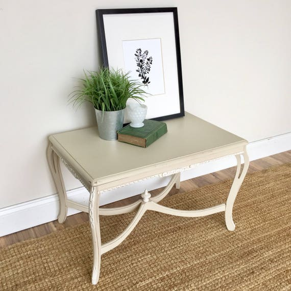 Small White End Table - Country Cottage Furniture  - Side Sofa Table - Small Living Room Furniture - Small Side Table - Distressed Table