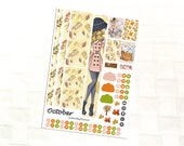 October Monthly Sticker Kit for Personal Size Planners