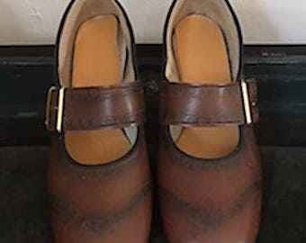 Girls 60s/70s Brown Mary Jane Shoes