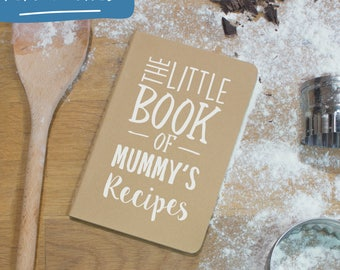 Personalised Recipe Book - Moleskine Notebook A6 - The Little Book Of Recipes, Mothers day gift for Mother's day personalised journal