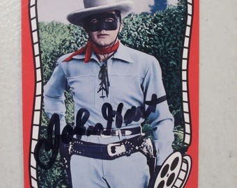 Vintage Riders of the Silver Screen The Lone Ranger John Hart Autographed Western Movie Trading Card, No. 187