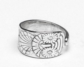"""Spoon Ring: """"Owl"""" by Silver Spoon Jewelry"""