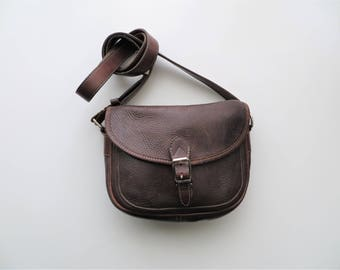 Vintage Roots Leather Bag Crossbody Satchel Made in Canada