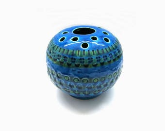 Bitossi Flavia Pottery Vase | Rimini Blue Design Aldo Londi | Italy