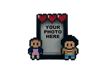 Eleven and Mike Couples Picture Frame - Stranger Things Picture Frame - Stranger Things Wedding Gift - Stranger Things Anniversary Gift