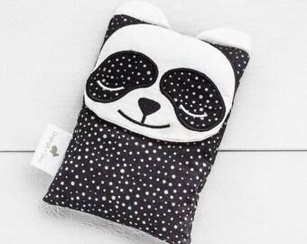 Boo boo bag, heating pad, baby gift, toddler gift, panda baby gift, black white panda, christening gift, baby shower gift, neutral baby gift