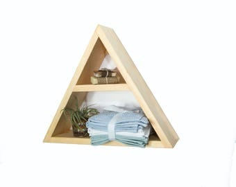 Triangle Shelf - Geometric Wood Wall Decor - Modern Shelving - Minimalist Shelf - Modern Shelving - Floating Shelf - Wood Shelf - Wall Shelf