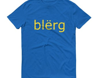 "30 Rock Shirt ""blerg"" Liz Lemon Tina Fey Funny TV Show IKEA Short-Sleeve T-Shirt"
