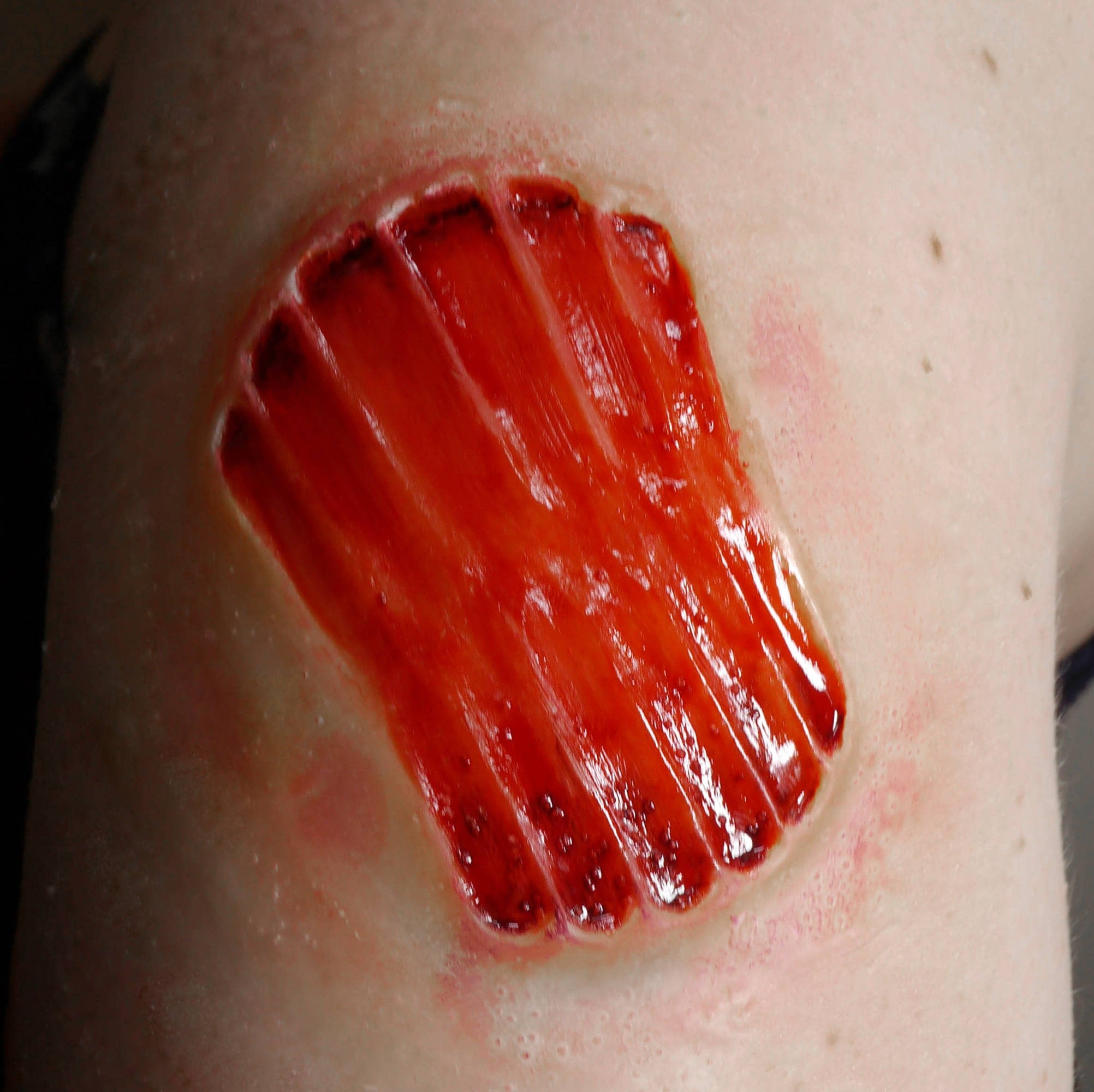 how to make a zombie bite wound