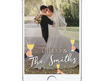 Wedding Geofilter Champagne Snapchat Filter, Wedding Cheers Snapchat Geofilter, Fun Wedding Geotag, Wedding Day Geofilter Celebration