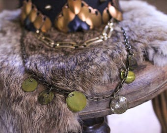 Dragon Choker - Green and Gold