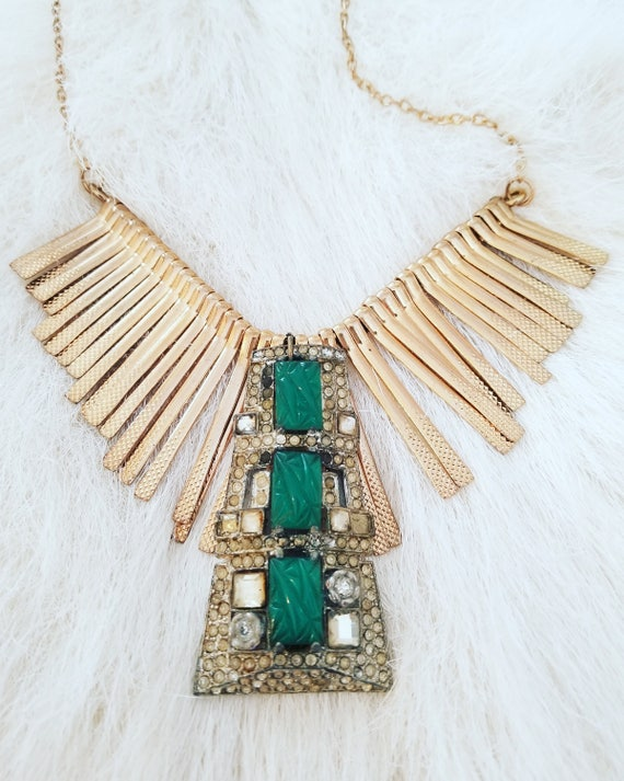 The Vintage Junkie...BOHO Statement Choker with Vintage Brass and Rhinestones