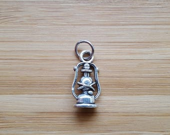 Pendant lamp minor oil silver-plated 15 x 10 mm charm