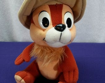 Chip and Dale Rescue Rangers Disney Playskool Chip Chipmunk 8 inch Plush Stuffed Animal Toy